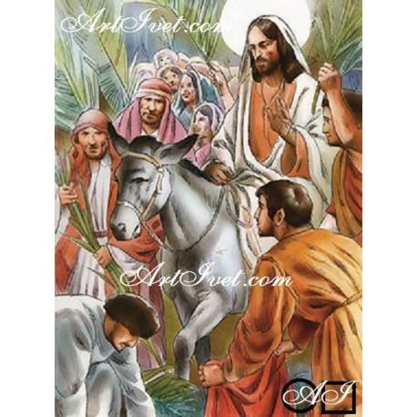 Диамантен гоблен ИСУС ВЛИЗА В ЙЕРУСАЛИМ КАТО ЦАР
