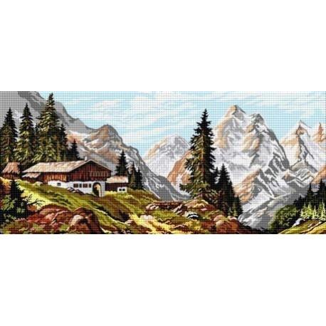 Гоблен със схема Хижа в Алпите