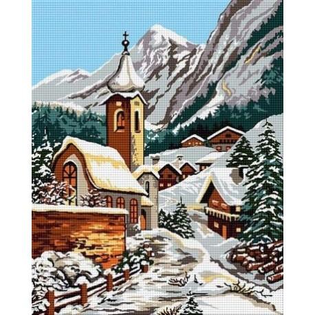 Гоблен със схема Зима в планината