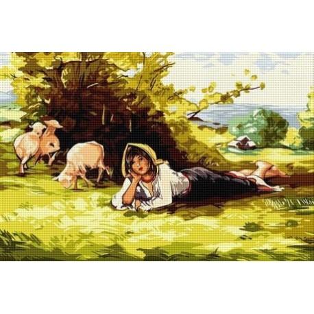 Гоблен със схема Пастирката