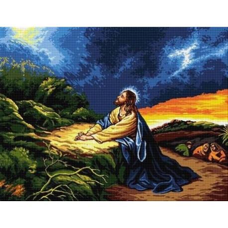 Гоблен със схема Молитвата на Исус в Гестиманската градина