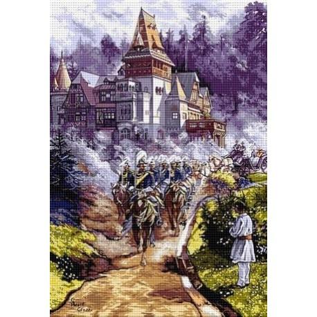 Гоблен със схема Освещаването на замъка Пелишор