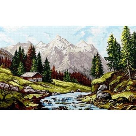 Гоблен със схема Алпийски пейзаж