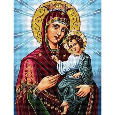 Гоблен със схема Девата с младенеца