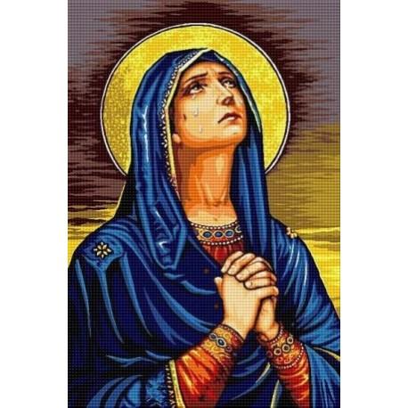 Гоблен със схема Дева Мария се моли