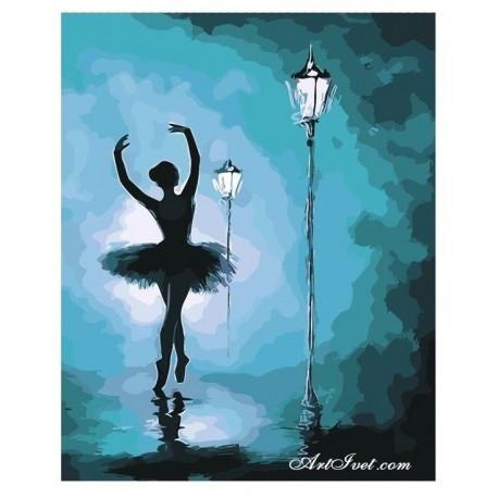 Рисуване по Номера (пълен комплект) -Балерина в нощта