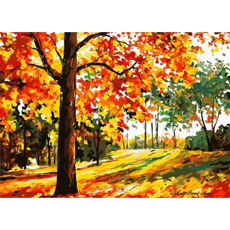 Рисуване по Номера (пълен комплект) - Цветовете на есента