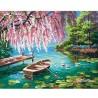 Рисуване по Номера (пълен комплект) - Пролет край езерото с водните лилии