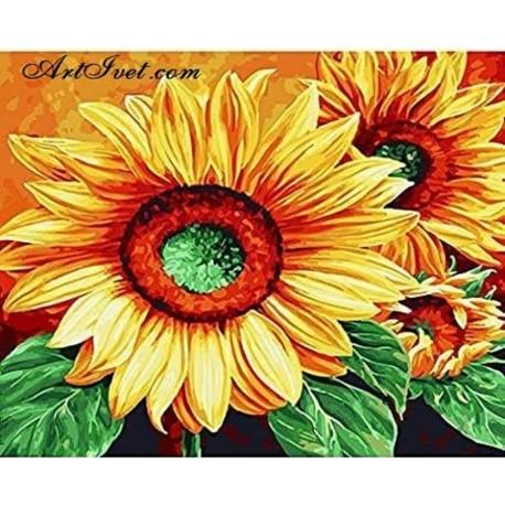 Рисуване по Номера (пълен комплект) -Усмивка в слънчогледовата нива