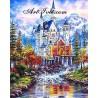 Рисуване по Номера (пълен комплект) - Замък край сините планини