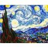 Рисуване по Номера (пълен комплект) - Звездна нощ