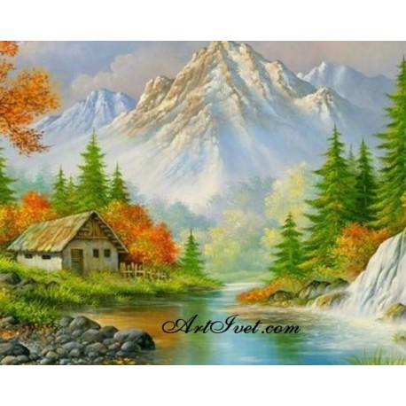 Рисуване по Номера (пълен комплект) - В подножието на планината