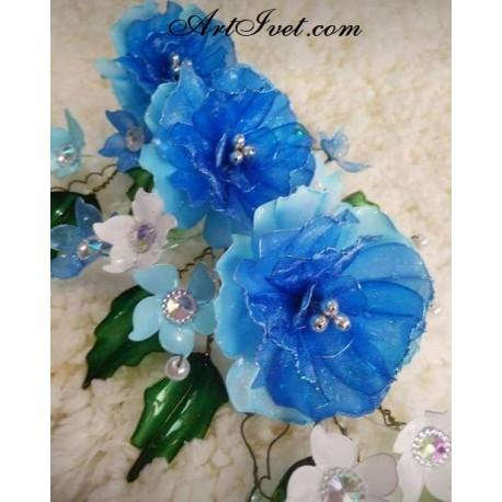 Рисуване по Номера (пълен комплект) - Синя, нежна красота