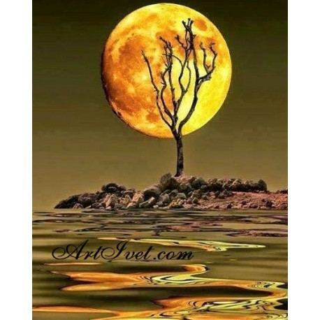 Рисуване по Номера (пълен комплект) -Лунна прегръдка