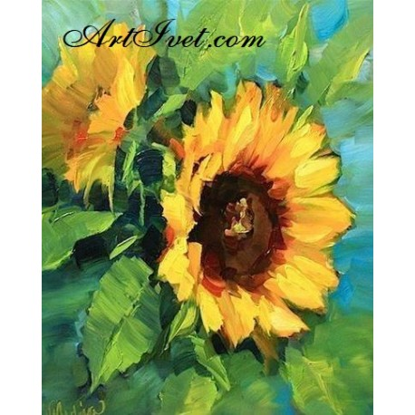 Рисуване по Номера (пълен комплект) - Летен слънчев дар