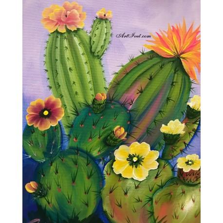 Рисуване по Номера (пълен комплект) - Мексикански букет