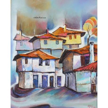 Рисуване по Номера (пълен комплект) - Зима в Мелник
