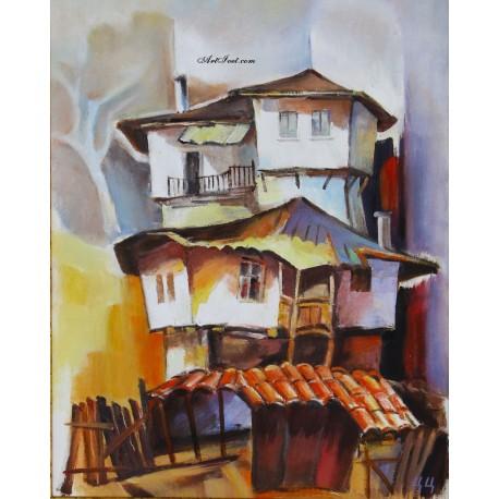 Рисуване по Номера (пълен комплект) - Търновски къщи