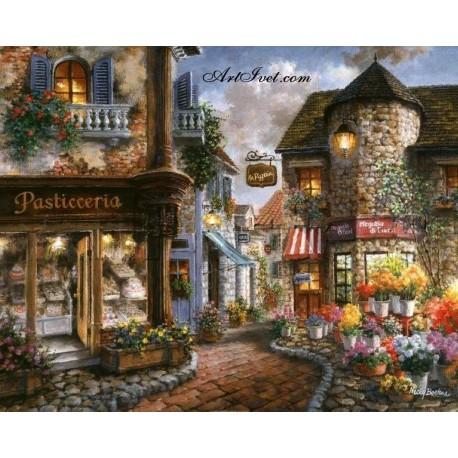 Рисуване по Номера (пълен комплект) - Малка уличка в стария град