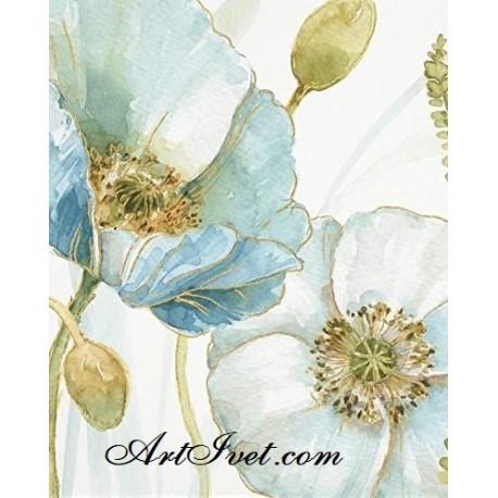 Рисуване по Номера (пълен комплект) - Синьо лято 1
