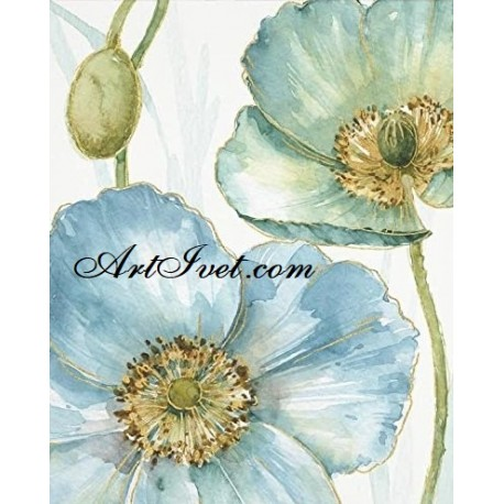 Рисуване по Номера (пълен комплект) - Синьо лято 2