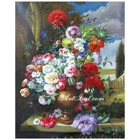 Рисуване по Номера (пълен комплект) -Изобилие от цветя и емоции