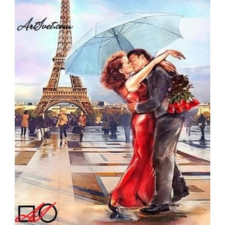 Диамантен гоблен ЛЮБОВ В ПАРИЖ