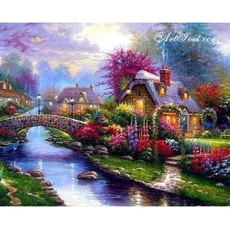 Рисуване по Номера (пълен комплект) - Пролетна градина