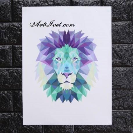 Рисуване по Номера (пълен комплект) - Лъв
