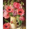 Рисуване по Номера (пълен комплект) - Кана с летни цветя