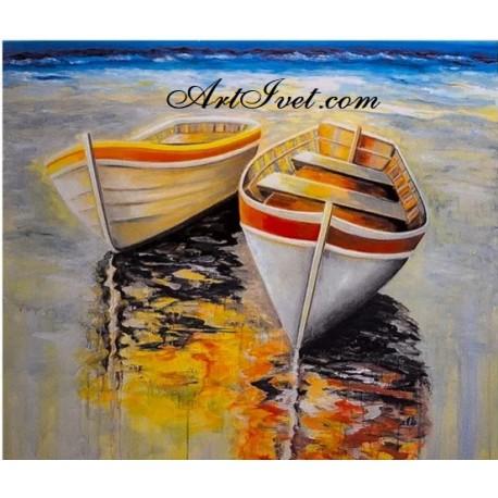 Рисуване по Номера (пълен комплект) - Лодките и залеза