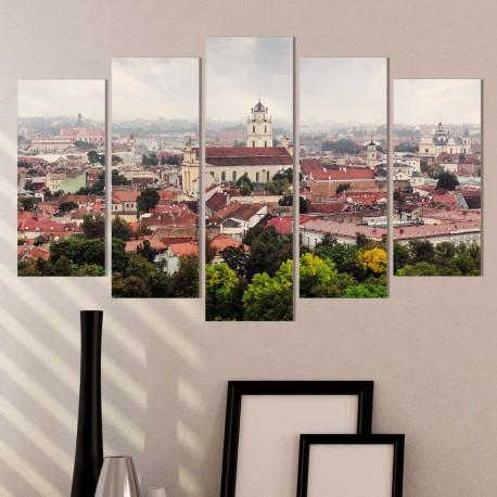 Дизайнерска принт картина ПАНОРАМА ОТ ВИЛНЮС/ Vilnius