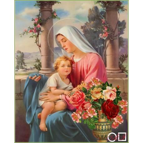 Елмазен гоблен МАРИЯ § ИСУС - БЛАГОСЛОВЕНА ТИШИНА