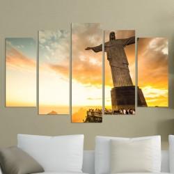 Дизайнерска принт картина СТАТУЯТА НА ИСУС В РИО