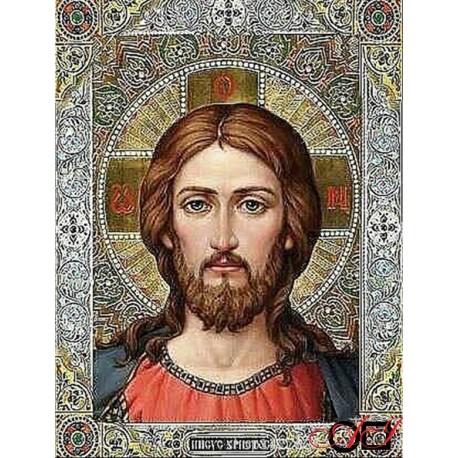 Диамантен гоблен ИСУС - ЖИВИЯТ БОГ