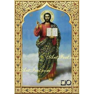Диамантен гоблен  ИСУС ХРИСТОС - СВЕТЛИ ДА СА ДНИТЕ ВИ