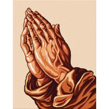 Гоблен Молитва в кафяво