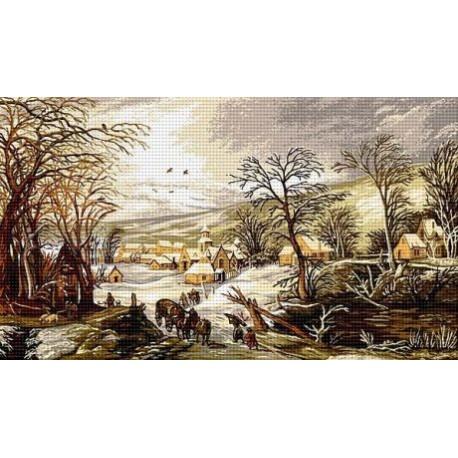 Гоблен Зимен ден в моето селце