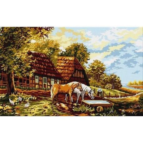 Гоблен Селски двор с животни
