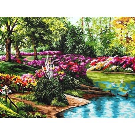 Гоблен Градина с езеро