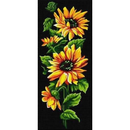 Гоблен Жълти цветя с тъмен фон