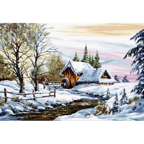 Goblen Peisaj de iarna