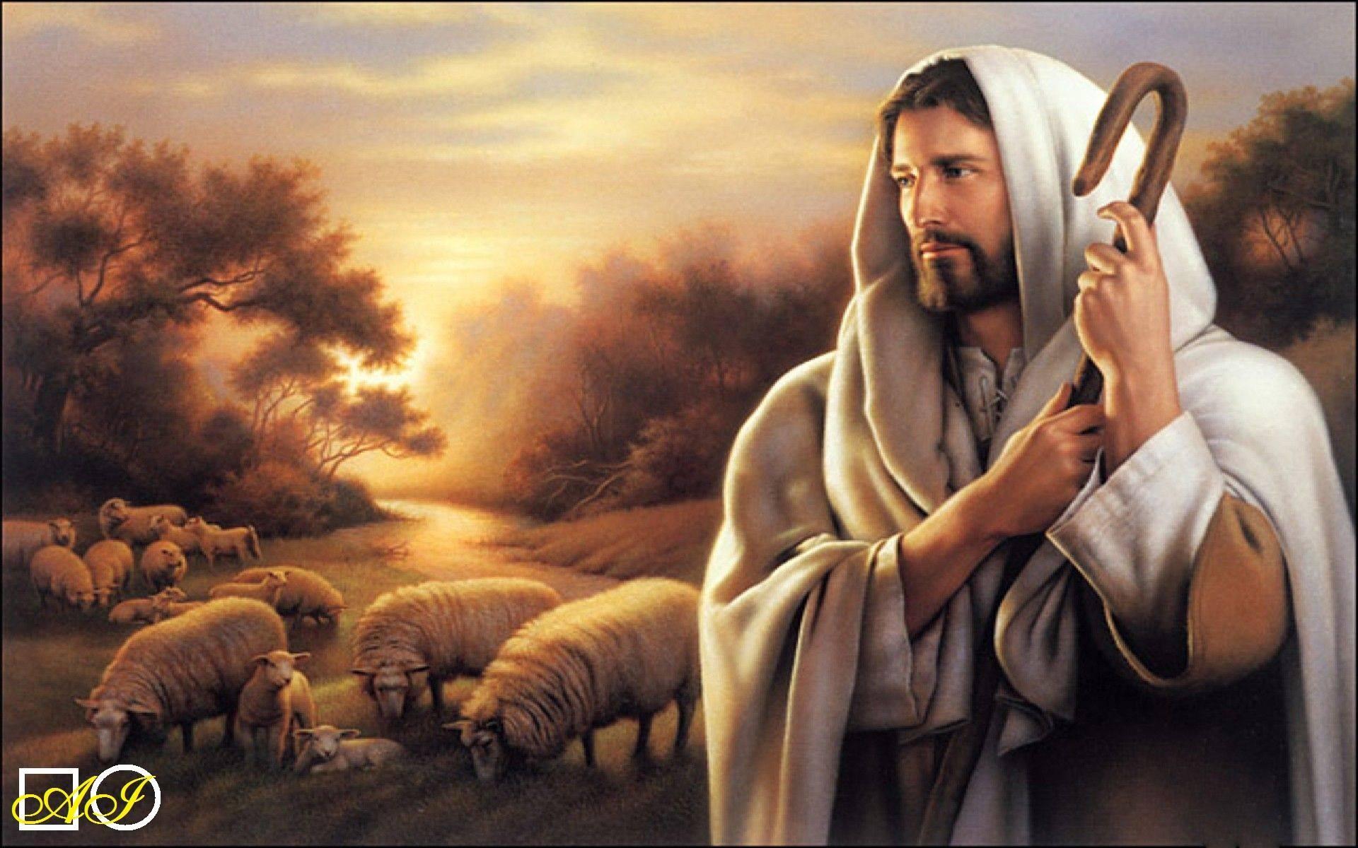 Диамантен  гоблен   ИСУС - ПАСТИР НАШ: Размер и Вид - Кръгли диаманти 36х25